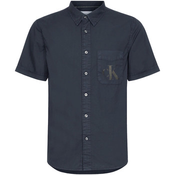 Textiel Heren Overhemden korte mouwen Calvin Klein Jeans J30J315223 Zwart