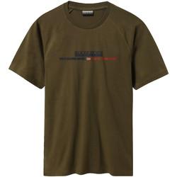 Textiel Heren T-shirts korte mouwen Napapijri NP0A4E37 Groen