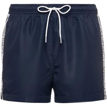 Textiel Heren Korte broeken / Bermuda's Calvin Klein Jeans KM0KM00457 Blauw