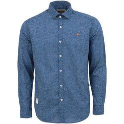 Textiel Heren Overhemden lange mouwen Napapijri NP0A4E2W Blauw