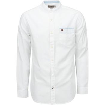 Textiel Heren Overhemden lange mouwen Napapijri NP0A4E2X Wit