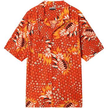 Textiel Heren Overhemden korte mouwen Napapijri NP0A4E81 Rood