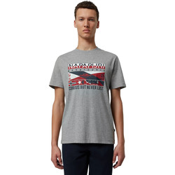 Textiel Heren T-shirts korte mouwen Napapijri NP0A4E36 Grijs