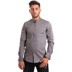 Textiel Heren Overhemden lange mouwen Antony Morato MMSL00376 FA450001 Grijs