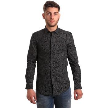 Textiel Heren Overhemden lange mouwen Antony Morato MMSL00428 FA430302 Zwart