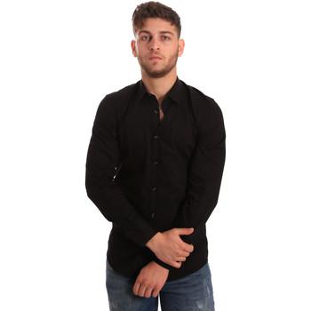 Textiel Heren Overhemden lange mouwen Antony Morato MMSL00472 FA450001 Zwart
