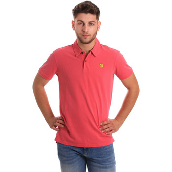 Textiel Heren Polo's korte mouwen Gaudi 811BU64074 Roze