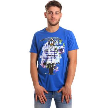 Textiel Heren T-shirts korte mouwen Gaudi 811BU64154 Blauw