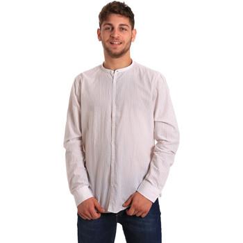 Textiel Heren Overhemden lange mouwen Gaudi 811FU45020 Wit