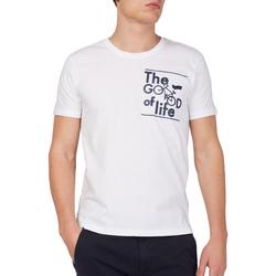 Textiel Heren T-shirts korte mouwen Gas 542990 Wit