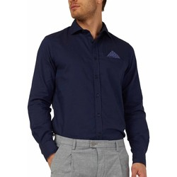 Textiel Heren Overhemden lange mouwen Gas 151131 Blauw