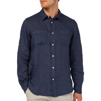 Textiel Heren Overhemden lange mouwen Gas 151150 Blauw