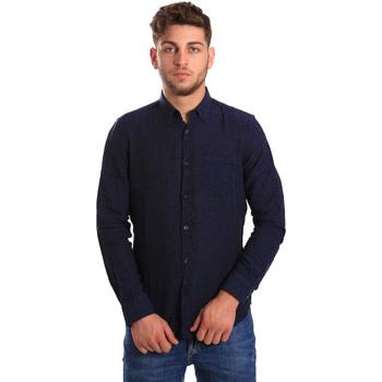 Textiel Heren Overhemden lange mouwen Gas 151200 Blauw