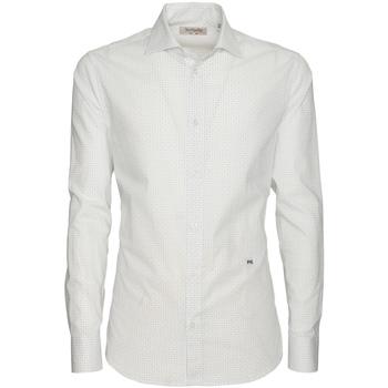 Textiel Heren Overhemden lange mouwen NeroGiardini P873051U Wit