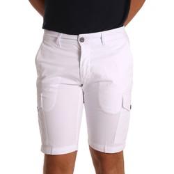 Textiel Heren Korte broeken / Bermuda's Sei3sei PZV130 81408 Wit