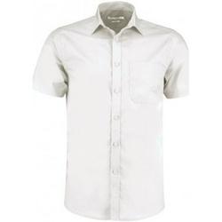 Textiel Heren Overhemden korte mouwen Kustom Kit KK141 Wit