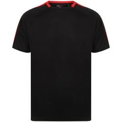 Textiel T-shirts korte mouwen Finden & Hales LV290 Zwart/Rood