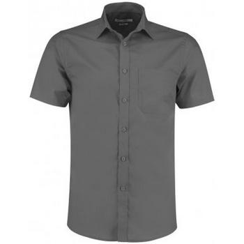 Textiel Heren Overhemden korte mouwen Kustom Kit KK141 Grafiet