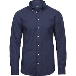 Textiel Heren Overhemden lange mouwen Tee Jays TJ4000 Marine