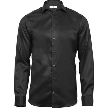 Textiel Heren Overhemden lange mouwen Tee Jays T4021 Zwart