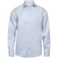 Textiel Heren Overhemden lange mouwen Tee Jays T4020 Lichtblauw