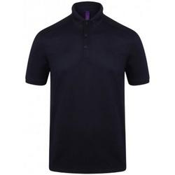 Textiel Heren Polo's korte mouwen Henbury HB460 Marine Oxford