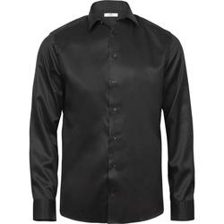 Textiel Heren Overhemden lange mouwen Tee Jays T4020 Zwart