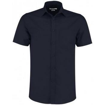 Textiel Heren Overhemden korte mouwen Kustom Kit KK141 Donkere marine