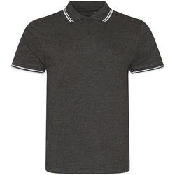 Textiel Heren Polo's korte mouwen Awdis JP003 Houtskool/Wit