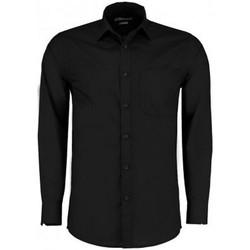 Textiel Heren Overhemden lange mouwen Kustom Kit K142 Zwart