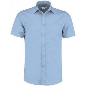 Textiel Heren Overhemden korte mouwen Kustom Kit KK141 Lichtblauw