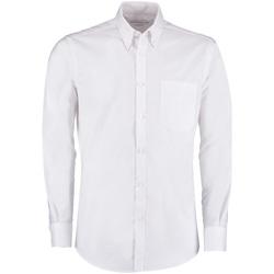 Textiel Heren Overhemden lange mouwen Kustom Kit KK182 Wit