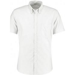 Textiel Heren Overhemden korte mouwen Kustom Kit KK183 Wit