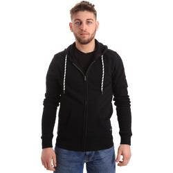 Textiel Heren Sweaters / Sweatshirts Key Up 2F01I 0001 Zwart