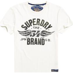 Textiel Heren T-shirts korte mouwen Superdry M10003TR Wit