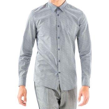 Textiel Heren Overhemden lange mouwen Antony Morato MMSL00501 FA430345 Blauw