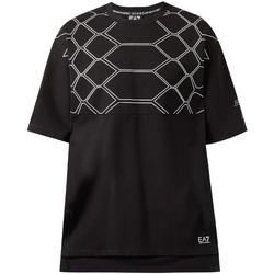 Textiel Heren T-shirts korte mouwen Ea7 Emporio Armani 6ZPT43 PJQ0Z Zwart