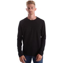 Textiel Heren T-shirts met lange mouwen Gas 300187 Zwart