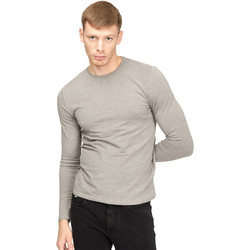 Textiel Heren T-shirts met lange mouwen Gas 300187 Grijs