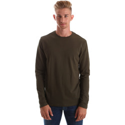 Textiel Heren T-shirts met lange mouwen Gas 300187 Groen