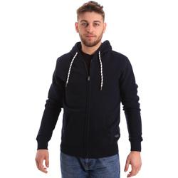 Textiel Heren Sweaters / Sweatshirts Key Up 2F01I 0001 Blauw