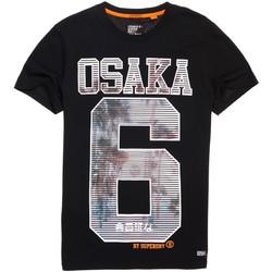 Textiel Heren T-shirts korte mouwen Superdry M10003HQ Zwart