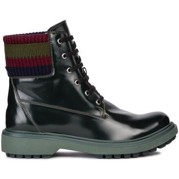 Schoenen Dames Enkellaarzen Geox D847AB 000BC Groen