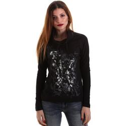 Textiel Dames T-shirts met lange mouwen Key Up 5VG84 0001 Zwart