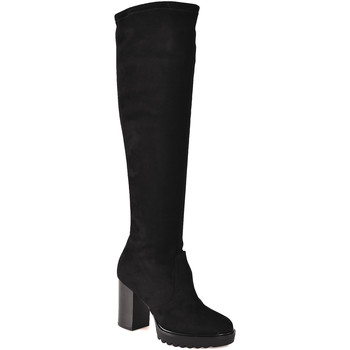 Schoenen Dames Hoge laarzen Mally 6389 Zwart