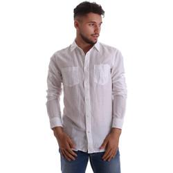 Textiel Heren Overhemden lange mouwen Gas 151150 Wit