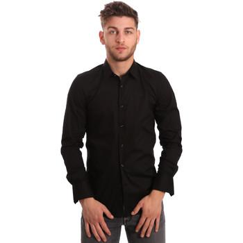 Textiel Heren Overhemden lange mouwen Antony Morato MMSL00375 FA450001 Zwart