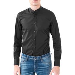 Textiel Heren Overhemden lange mouwen Antony Morato MMSL00376 FA450001 Zwart