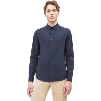 Textiel Heren Overhemden lange mouwen Calvin Klein Jeans J30J312439 Blauw
