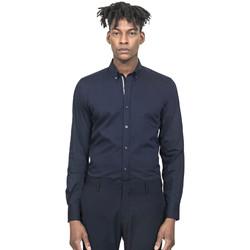 Textiel Heren Overhemden lange mouwen Antony Morato MMSL00523 FA450001 Blauw